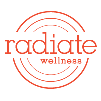 radiate logo red
